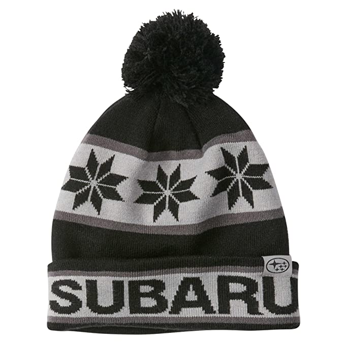 91d350aaaf5 Image Unavailable. Image not available for. Color  Genuine Subaru Black and  Gray Pom Beanie Cap Hat Sti Impreza Forester Outback