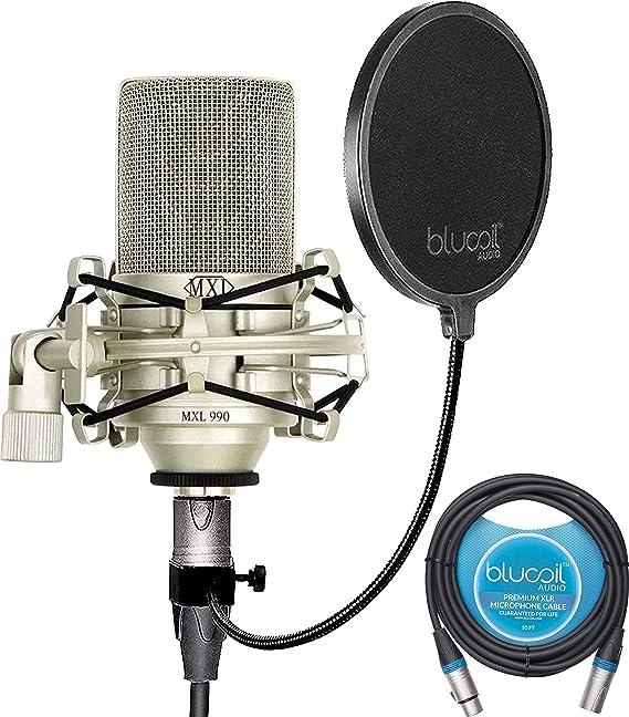 MXL 990 Condenser Microphone Bundle with MXL-90 Shockmount