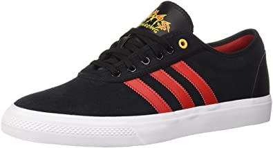 adidas Originals Mens Adi-Ease Core Black/Scarlet/White 10.5 M US