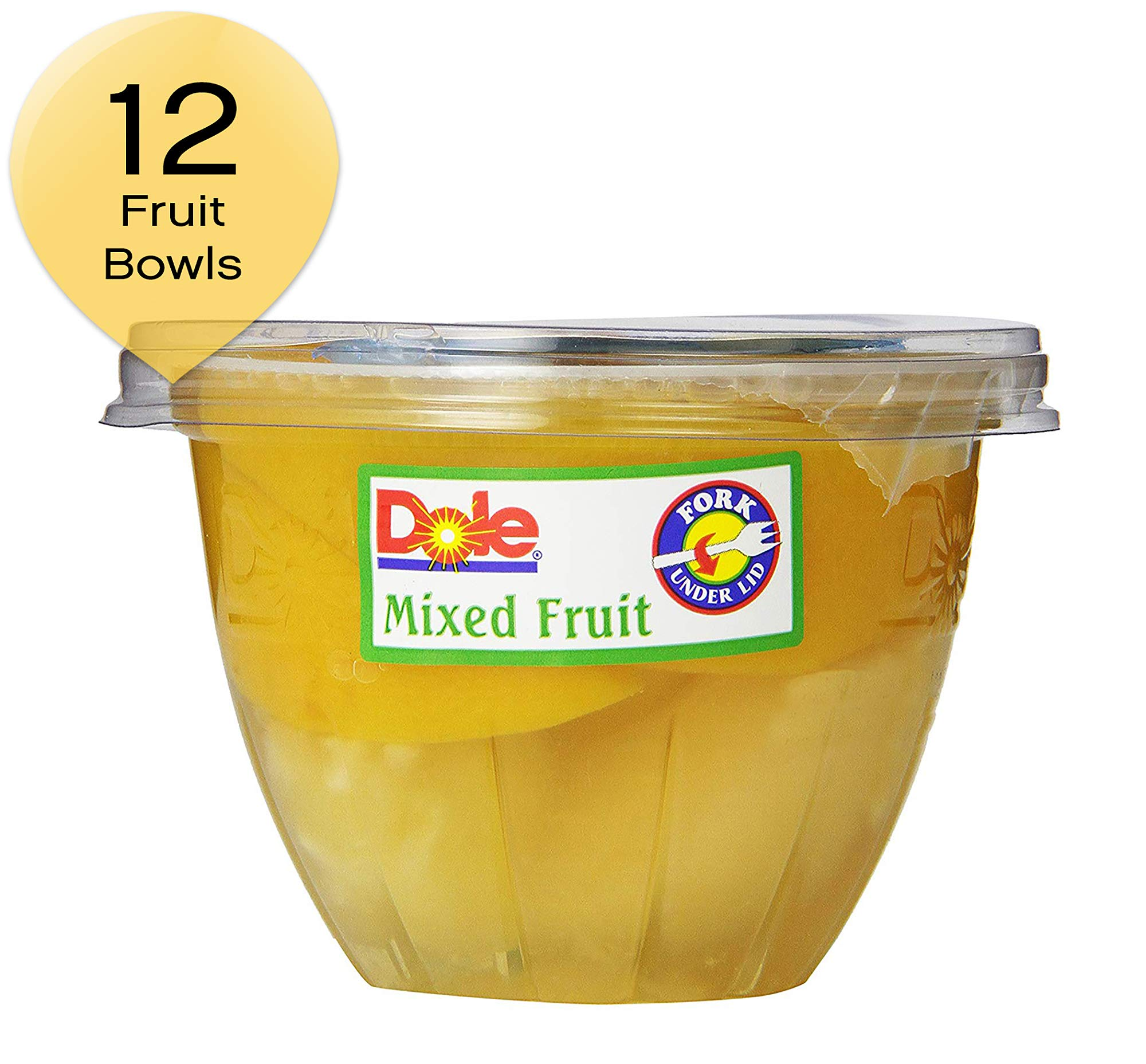 Dole Mixed Fruit In Light Syrup, 7-Ounce Containers (Pack of 12)