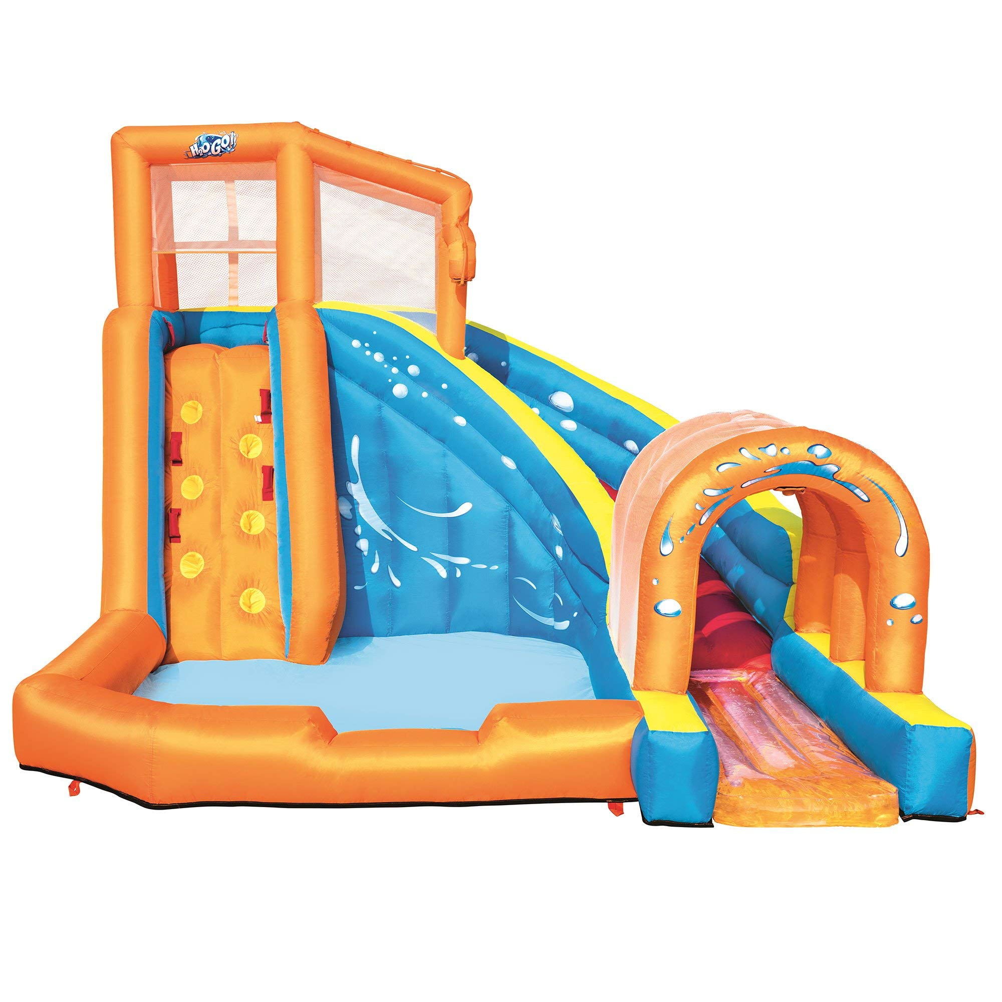 H2OGO! Hurricane Tunnel Blast Mega Inflatable Summer Family Water Park, Multicolored by Bestway (Image #1)