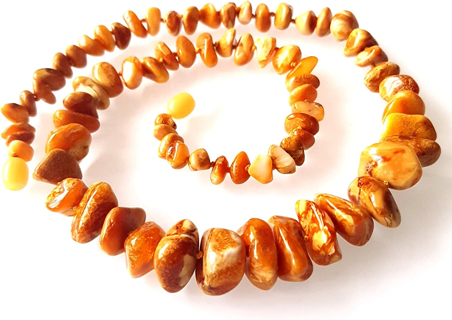 // Certified Genuine Baltic Amber Healing Amber Natural Raw Unpolished Baltic Amber Necklace Women Lang 78 inch 200cm