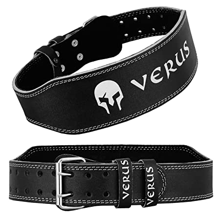 Verus Weight Lifting Belt Buckle 4 Gym Fitness Exercise Training Back Support.