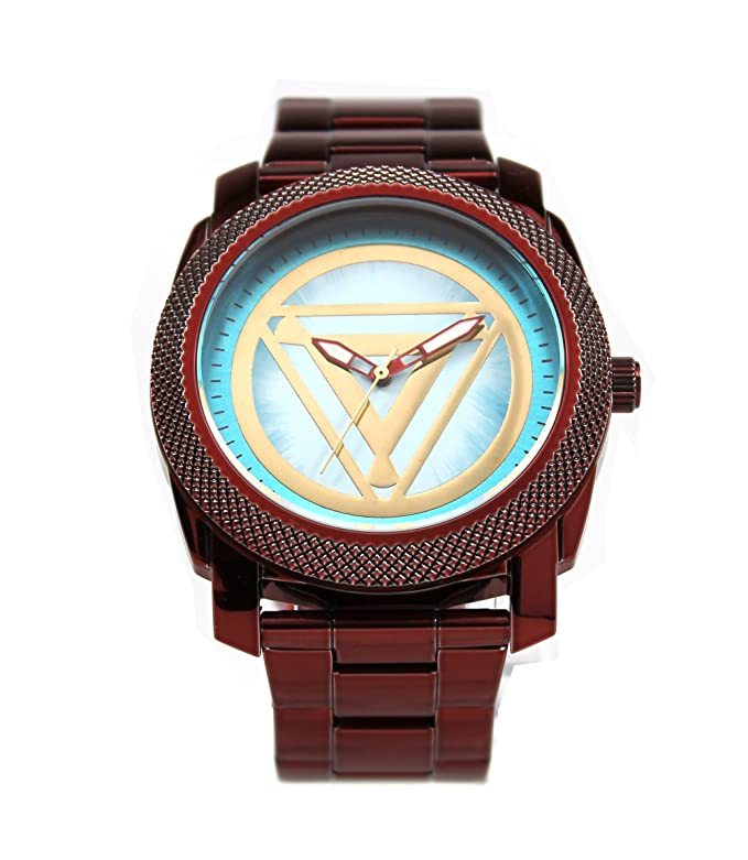 Amazon.com: Iron Man Stainless Steel Mens Arc Reactor Watch (IRM8001): Superhero Watches: Watches