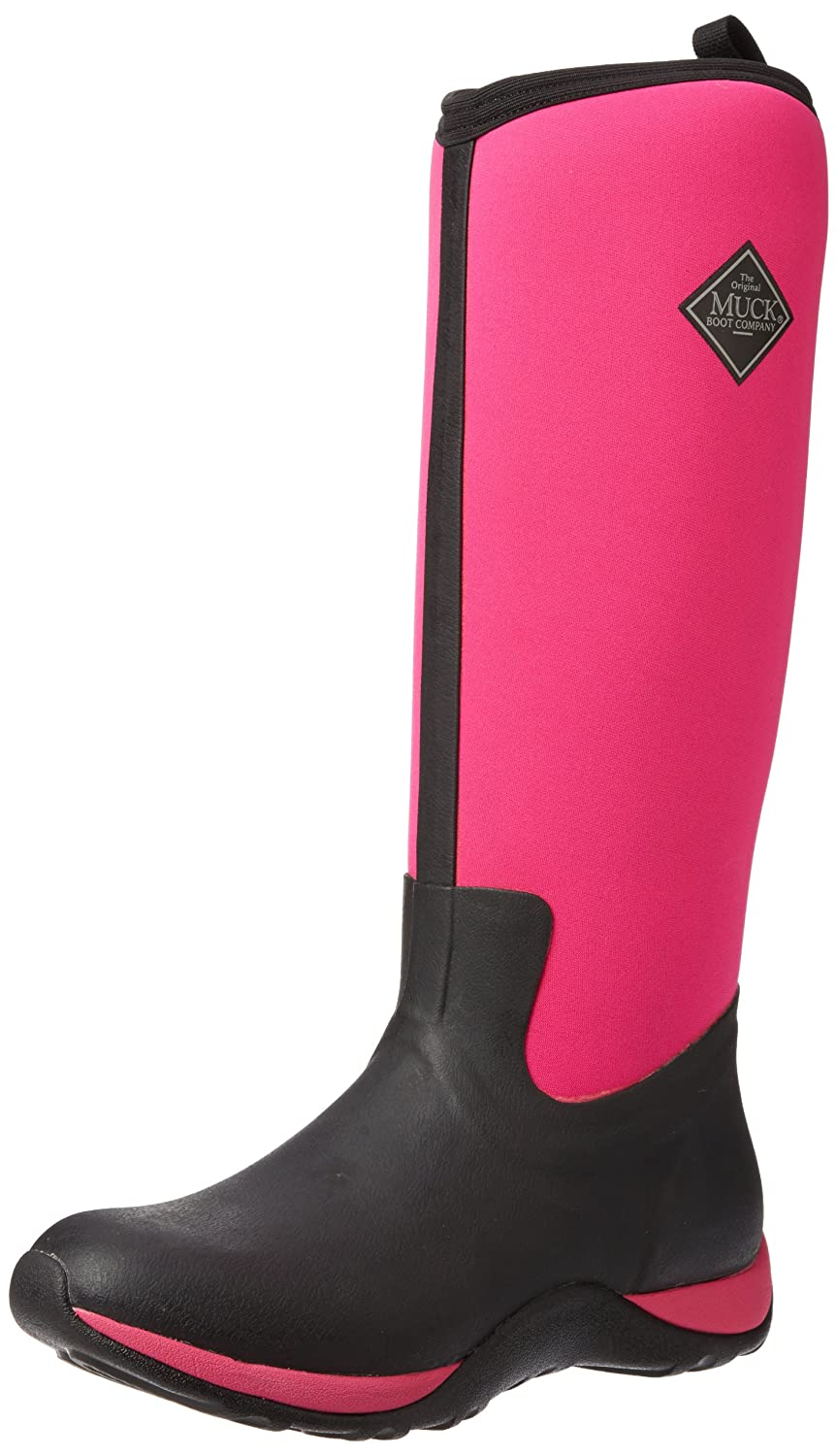 Muck Boot Women's Arctic Adventure Tall Snow Boot B00BN611Y4 6 B(M) US|Black/Hot Pink