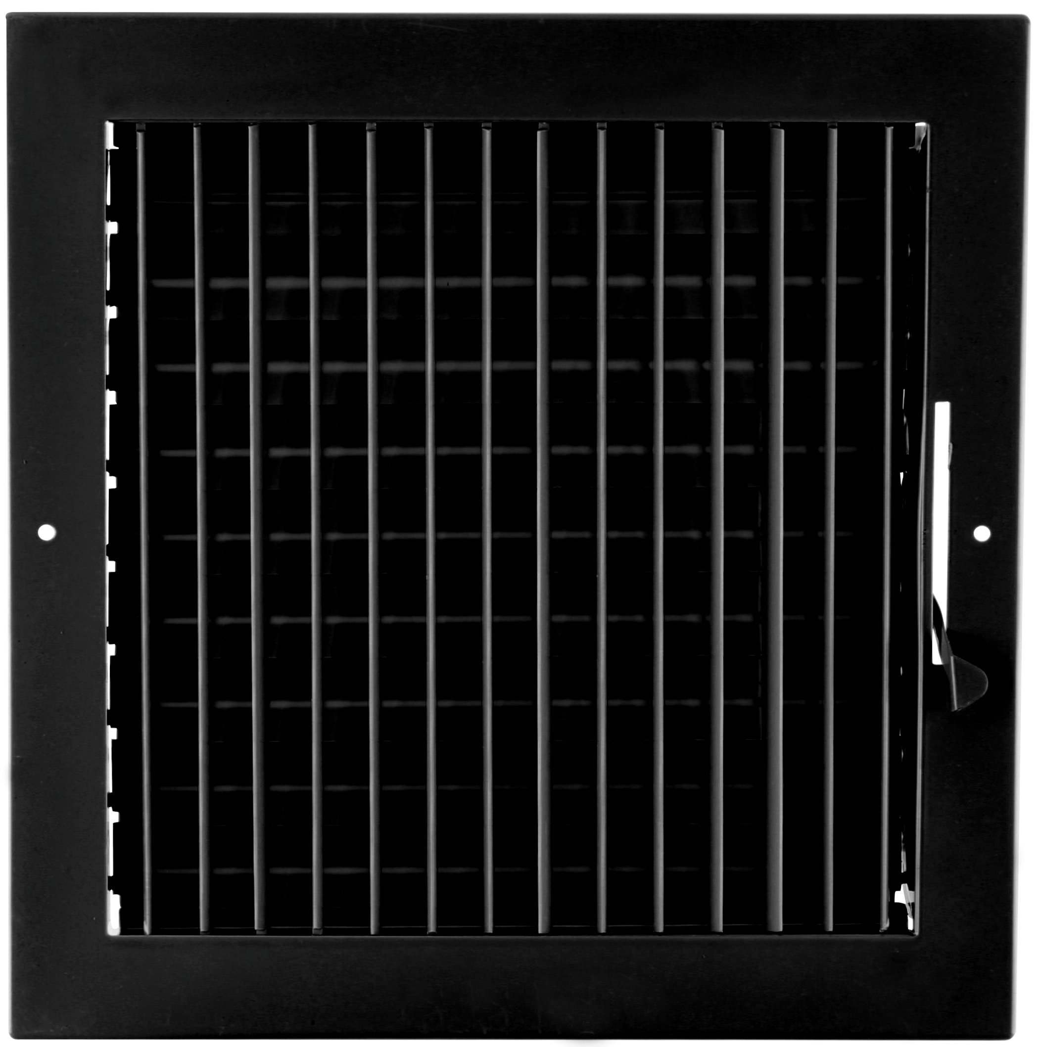 8'' X 8'' ADJUSTABLE AIR SUPPLY DIFFUSER - HVAC Vent Duct Cover Sidewall or Cieling - Grille Register - High Airflow - Black