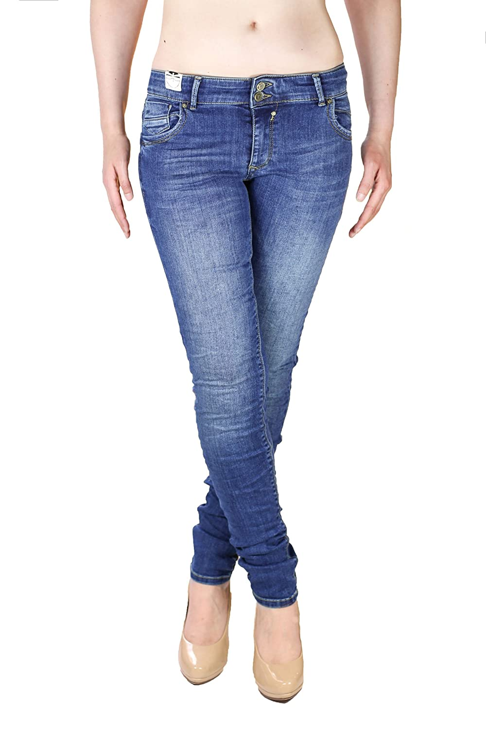 Coccara Damen Jeans Slim Fit Bella Denim dark blue