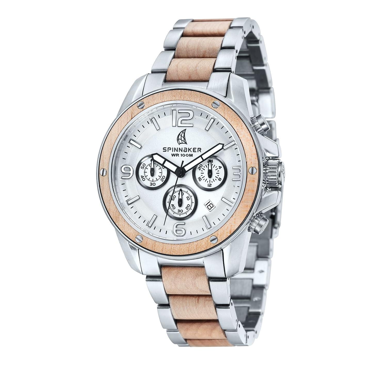 Spinnaker – sp-5027 – 11 – Vessel – Armbanduhr – Quarz Chronograph – Zifferblatt Grau – Armband Stahl zweifarbig