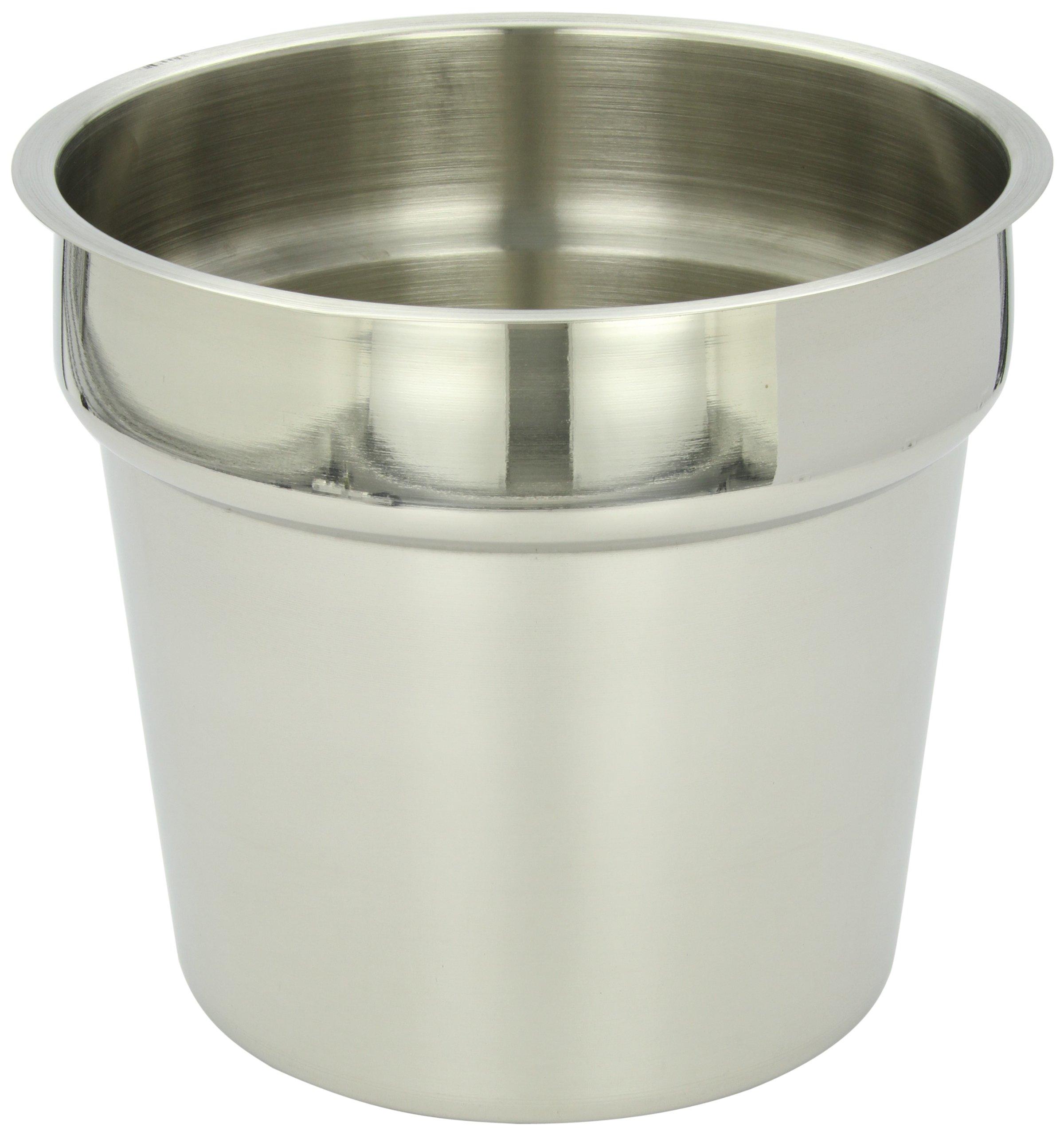 Benchmark 56750 Inset Pan, 7 qt Capacity, 9-1/2'' Diameter x 8-1/4'' Height
