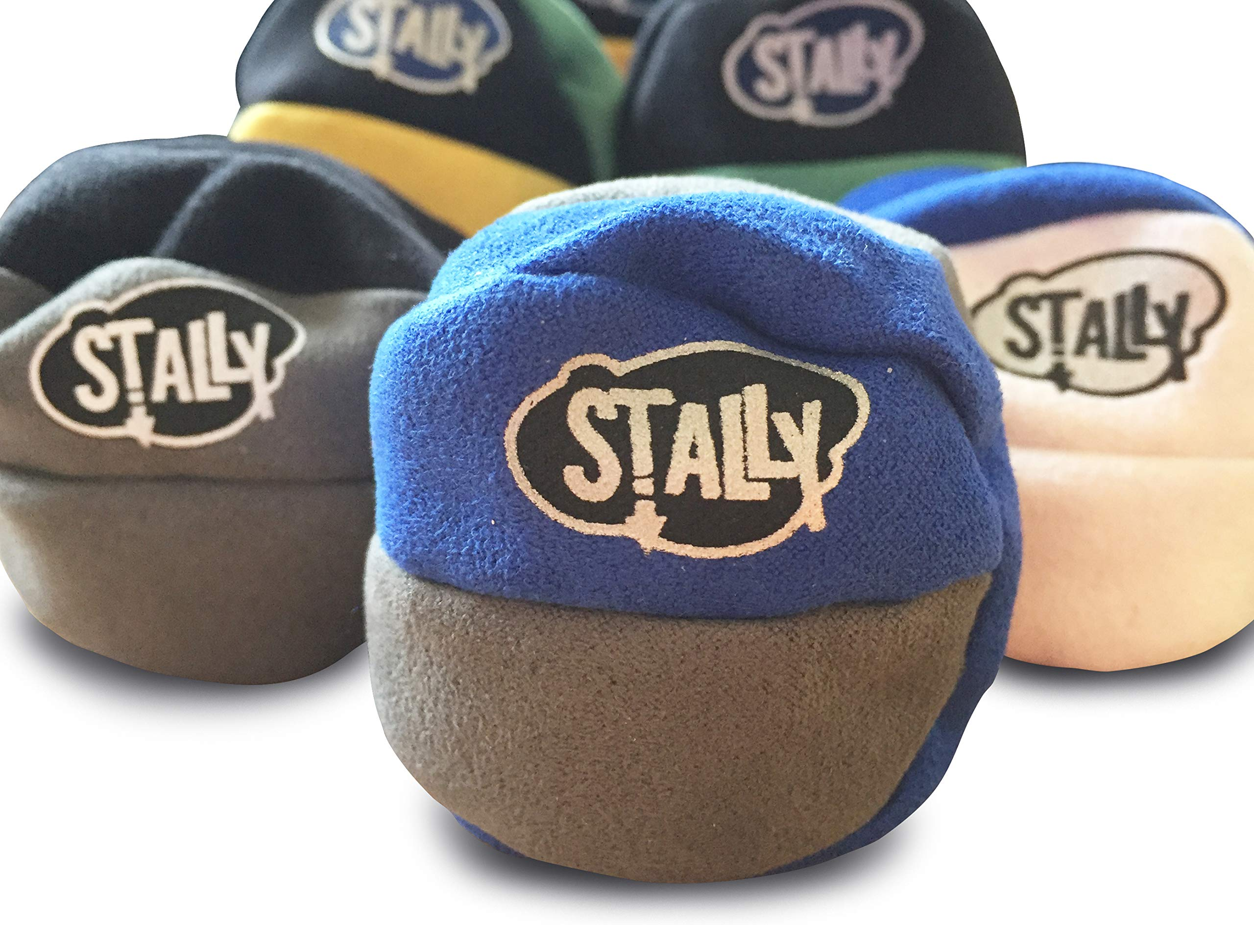 Stally Hacky Sack Footbag 6-Pack, Assorted Colors