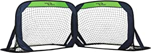 Sport Squad Portable Soccer Goal Net Set - Set of Two 4' Pop Up Training Soccer Goals with Compact Carrying Case - Easy Assembly and Compact Storage - Great for Kids and Adults, Small (SSS1001)