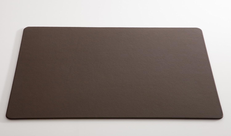 Matthey Schreibunterlage aus feinem italienischen Rindleder 50 x 70 cm schwarz Handmade in Germany abgerundete Ecken 0,5 cm dick C