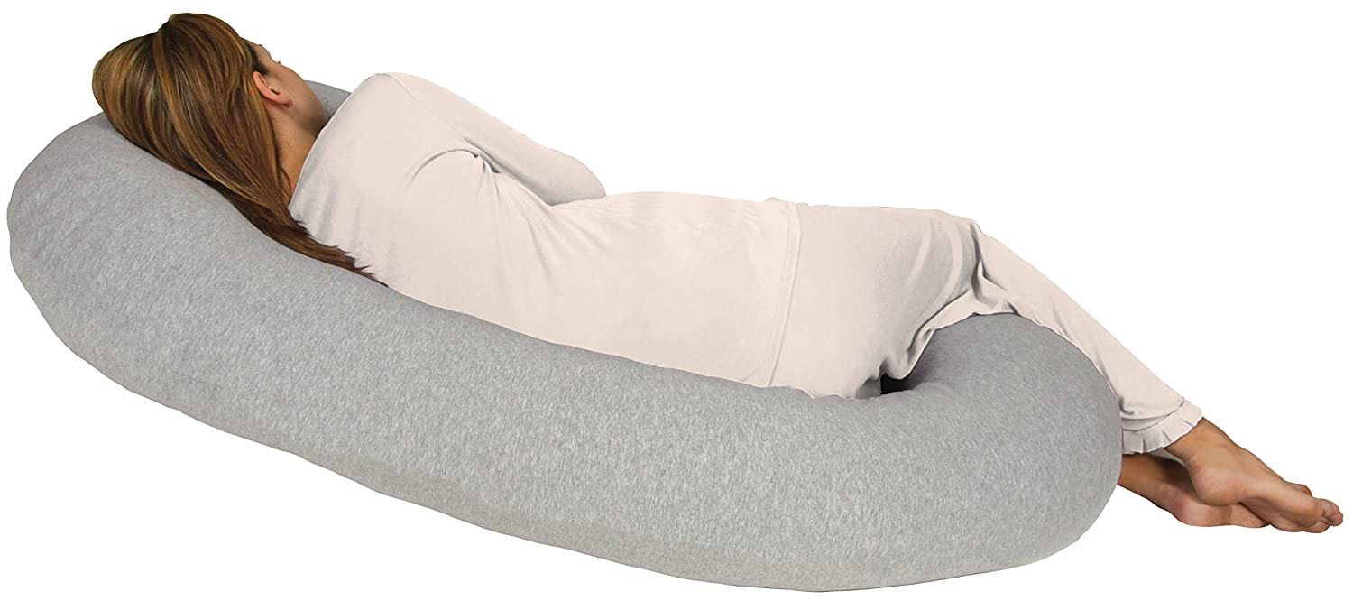 Leachco Snoogle Chic Jersey Total Body Pillow Heather Gray