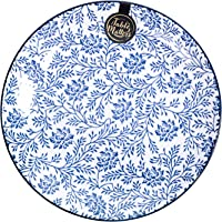 Table Matters FB40080 Floral Blue Rice Plate, 8""