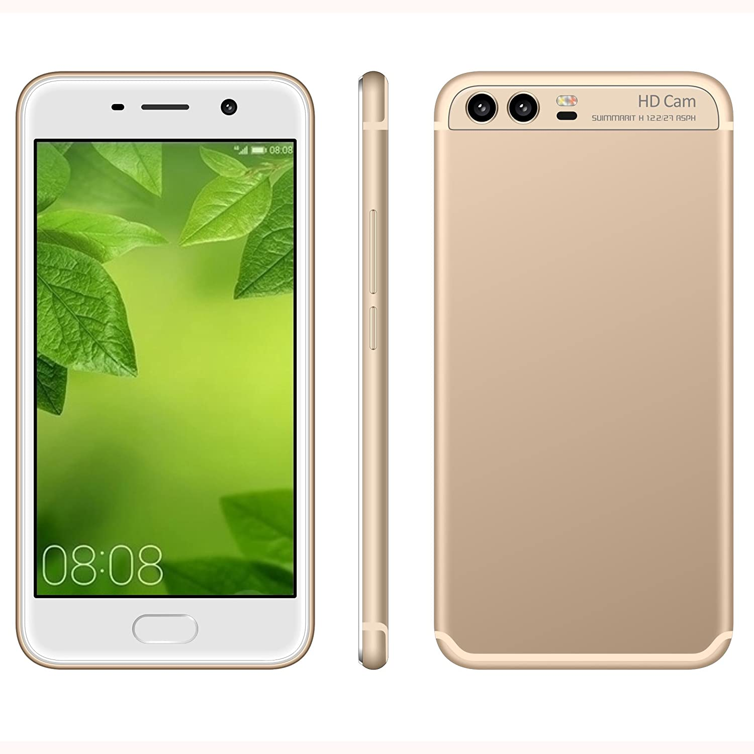 SIM Free Mobile Phones Unlocked 3G GSM Smartphones Dual SIM 5 0 Inch Touch Screen Android 6 0 Phone MTK6580 Quad Cores 1GB RAM & 4GB ROM Beauty HD 5 0MP
