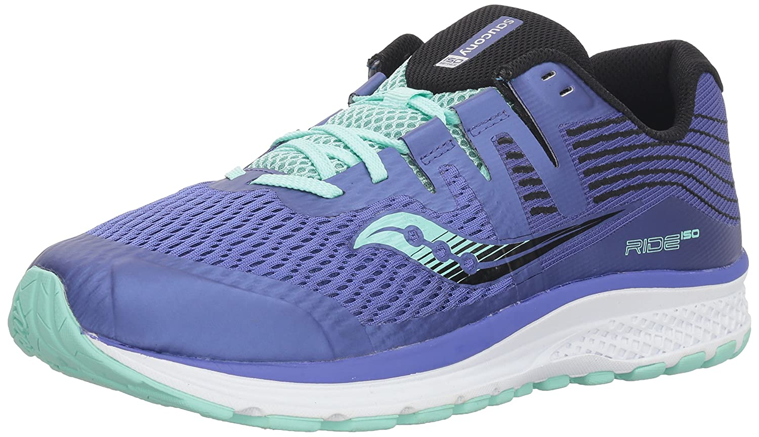 Saucony Girls Ride Iso ' Running shoes Purple in Size UK 5.5 Big Kid