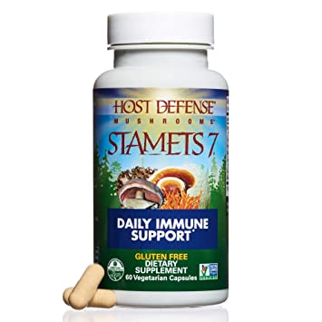 Host Defense - Stamets 7 Multi Mushroom Capsules, Supports Overall Immunity  by Promoting