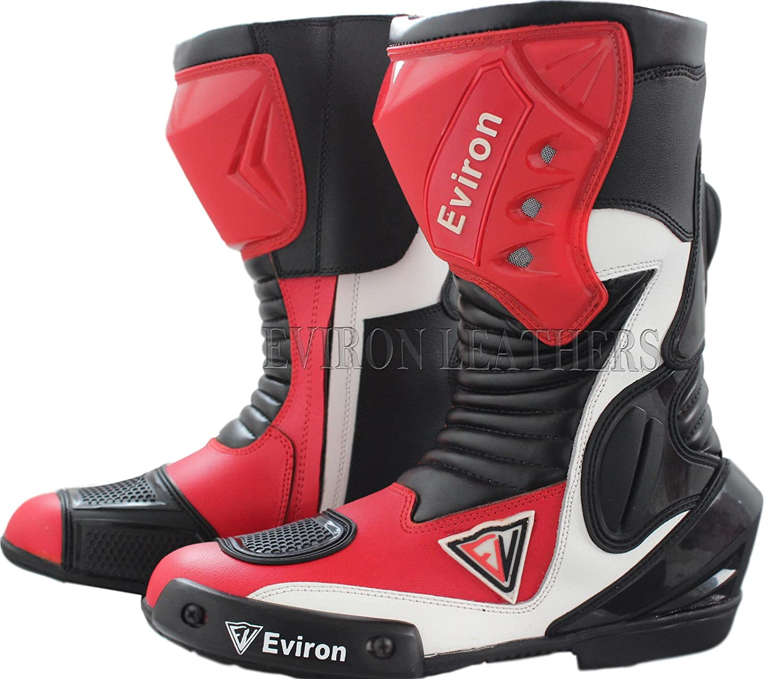 Waterproof Motorbike Red /& White Protective Boots