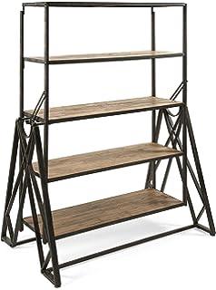 Benzara IMX 97275 Convertible Dining Table Bookshelf, One Size, Black