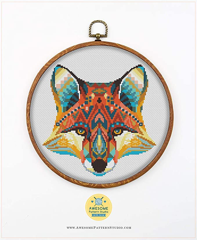 Cross Stitch Counted Embroidery Kit 14CT Phoenix Animal Cotton Thread Needlework