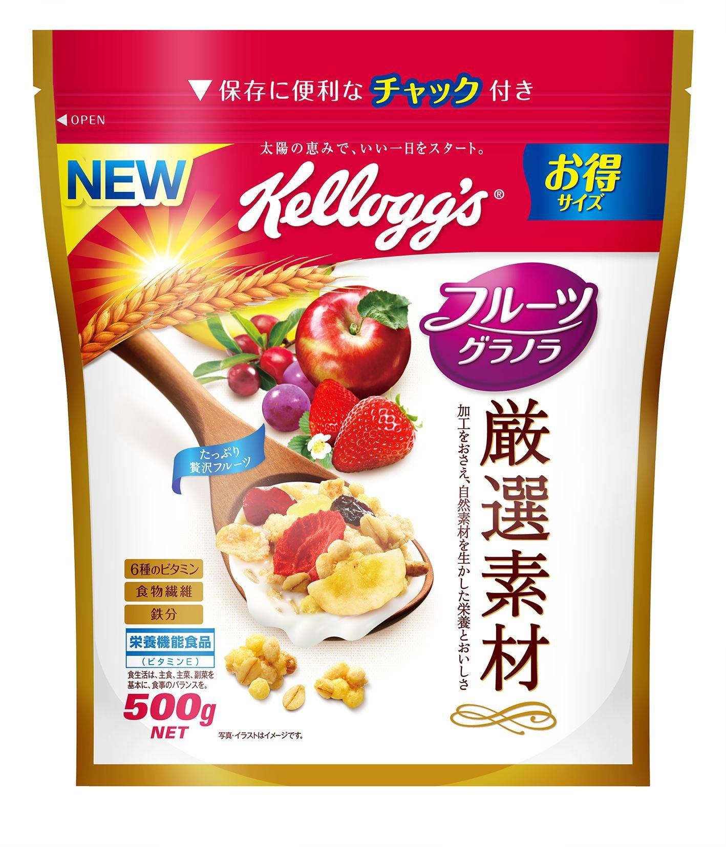 Kellogg selected materials fruit granola economical bag 500g ~ 5 bags