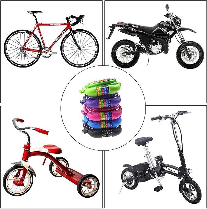 Dewuseller Alta Seguridad Candado Bicicleta - Candados Bici de ...