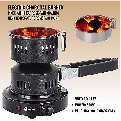 Amazon.com: AHADU Arrancador eléctrico de carbón (quemador ...