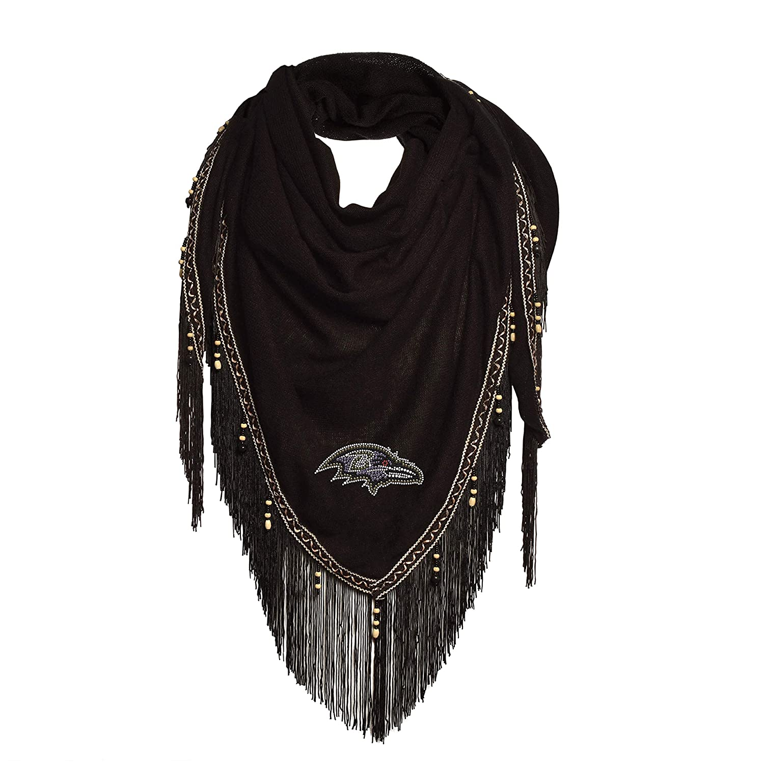 NFL Baltimore Ravens Beaded Scarf