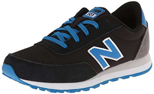 New Balance KL501BKY Zapatillas para niño, Color NegroGrisBlancoAzul
