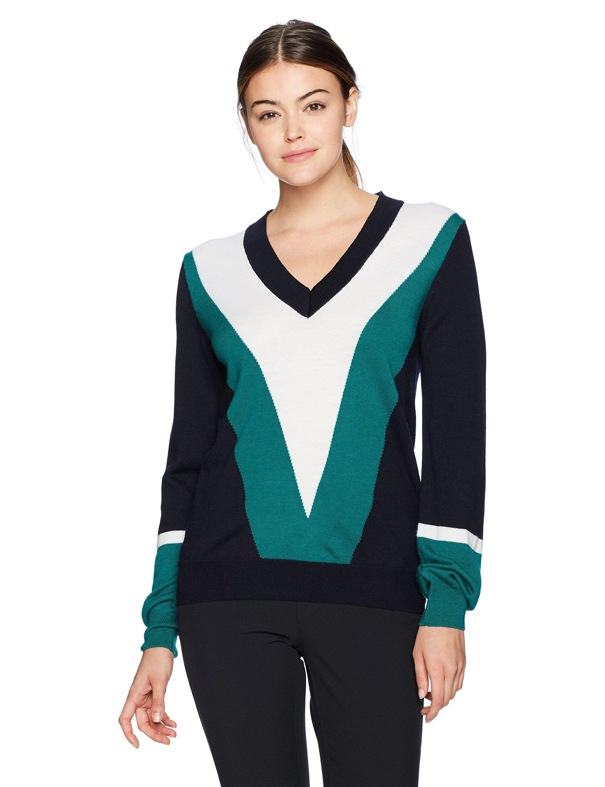 J.Lindeberg Women's W Mona True Merino Sweater, JL Navy, M by J.Lindeberg (Image #1)