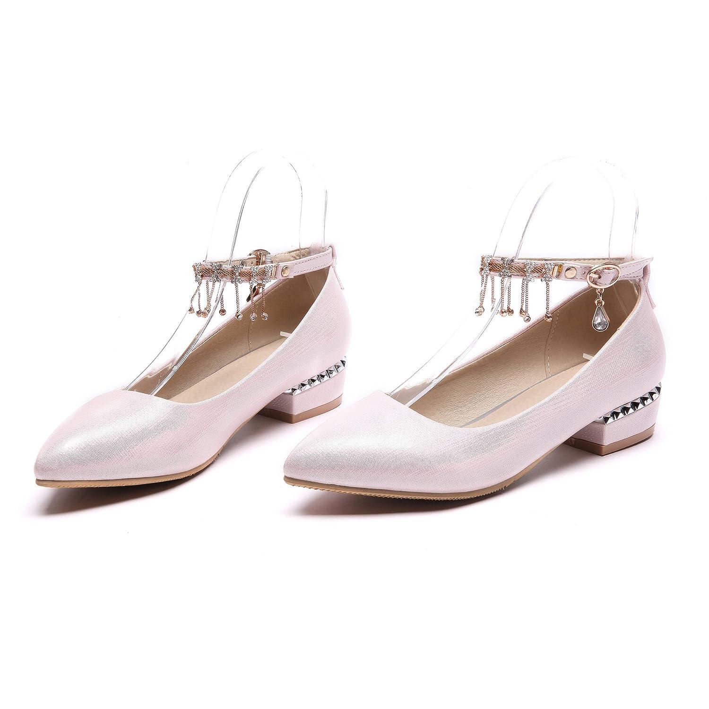 QIN&X Block der der Block Frauen Schuhe Flache Mund Schuhe Pink 7f6459