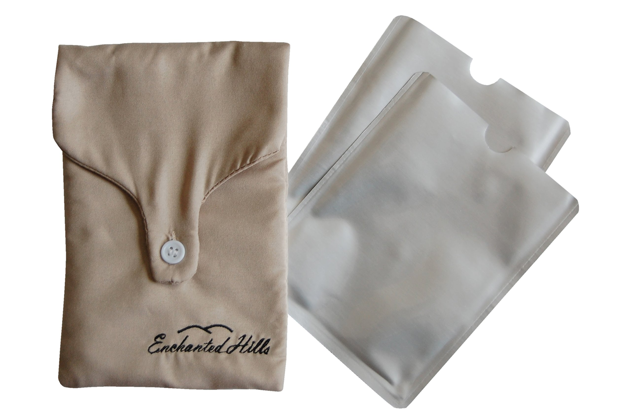 Enchanted Hills Bra Pouch with 2 RFID Passport Size RFID Blocking Sleeves