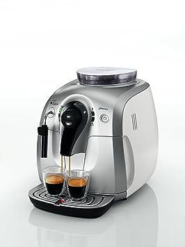 Saeco HD8745/01 - Cafetera de espresso automática, color negro y plata, 1400 W, acero inoxidable