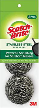 3-Count Scotch-Brite Stainless Steel Scrubbers