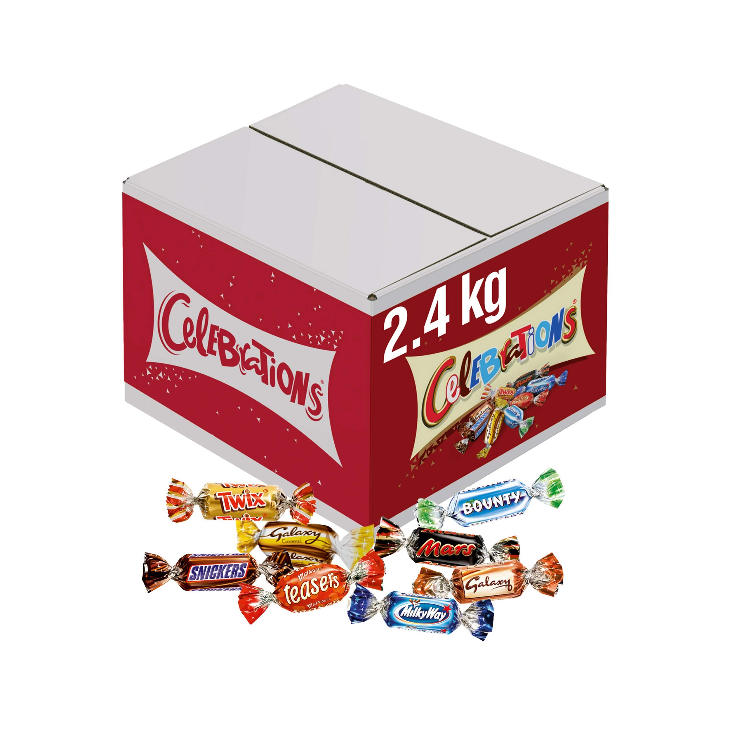 Celebrations Chocolate Bulk Box, (Maltesers, Galaxy, Snickers and More), 2.4 kg