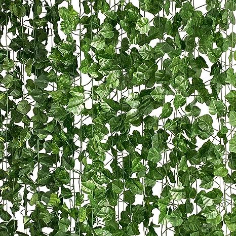 6.5ft Artificial Garland Hanging Plant Fake Vine Ivy Leaf Greenery Foliage Decor