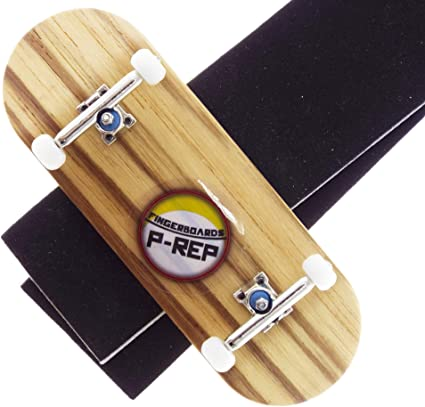30mm n.EXT Complete Wooden Fingerboard Yellow with CNC Lathed Wheels P-Rep
