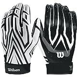 fe6ccf4fcaf Wilson clutch skill american football glove  blue   Amazon.co.uk ...
