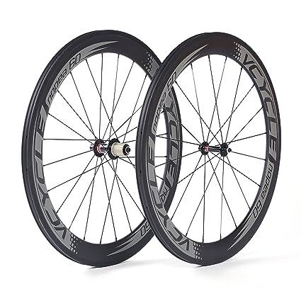 VCYCLE Nopea 700C Fibra De Carbono Carreras Bicicleta De Carretera Ruedas Tubular 60mm Ultra Ligero Shimano