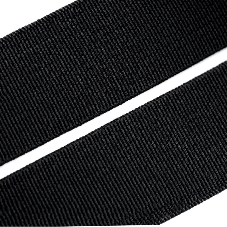 25/m de largo 25/mm de ancho cinta de goma Weis o negro negro