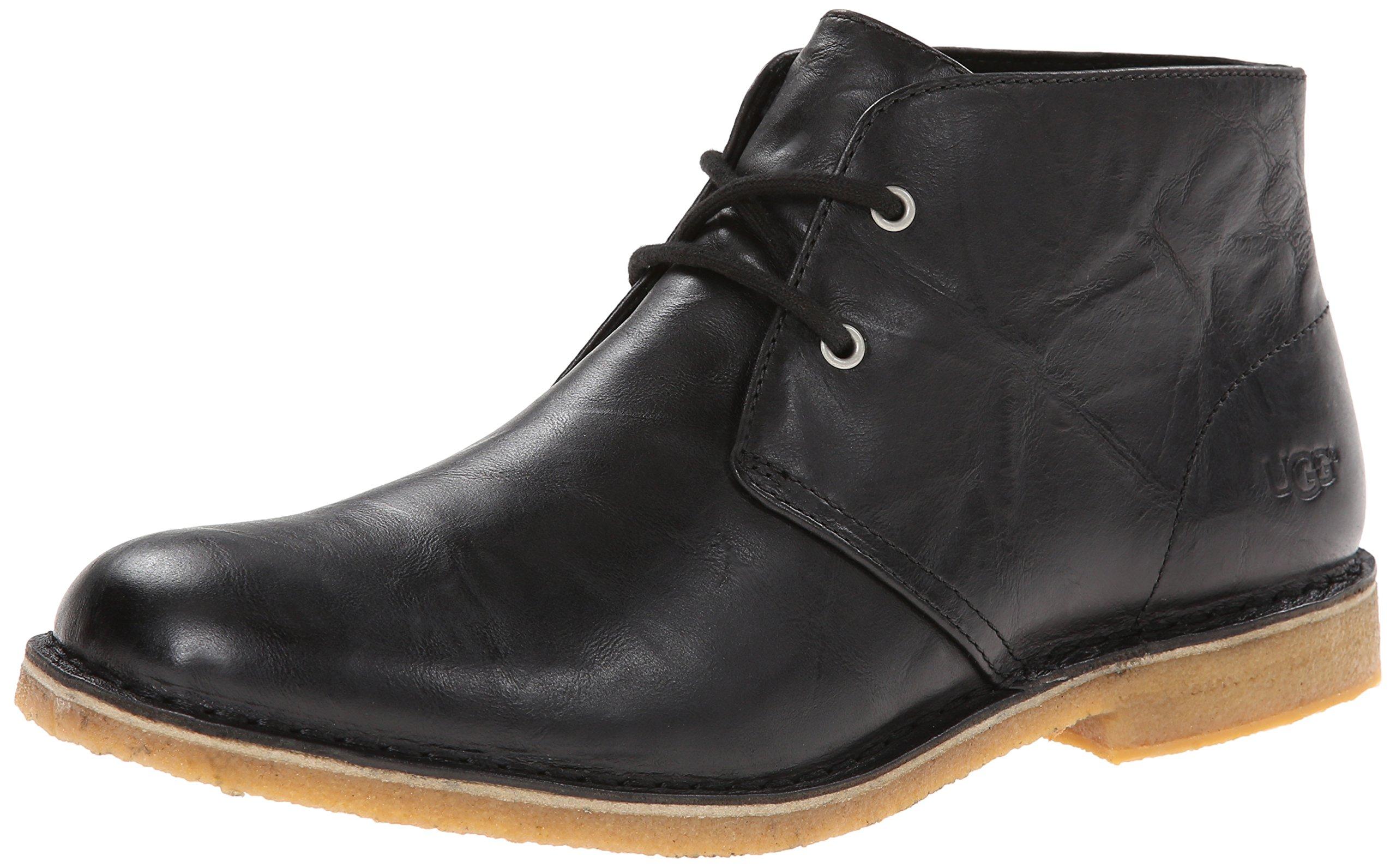 UGG Men's Leighton Chukka Boot, Black, 10.5 M US