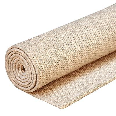 Tapis de yoga classique, 200 x 71 cm 100% coton, à la forme très stable, spécialement conçu pour l'Ashtanga ou le Bikram yoga (hot yoga)