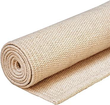 Alfombra de yoga de algodón, tapete para yoga estilo Mysore, esterilla con recubrimiento de material natural para yoga estilo Ashtanga o Hot: Amazon.es: Salud y cuidado personal