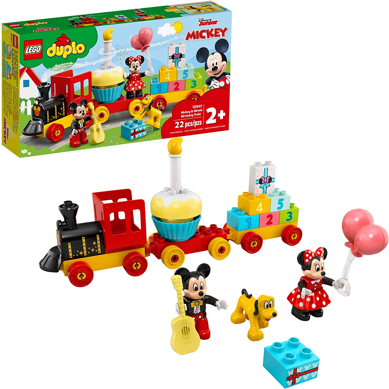 LEGO DUPLO Disney Mickey & Minnie Birthday Train 10941 Kids' Birthday Number Train; Learning and Building Playset, New 2021 (22 Pieces)