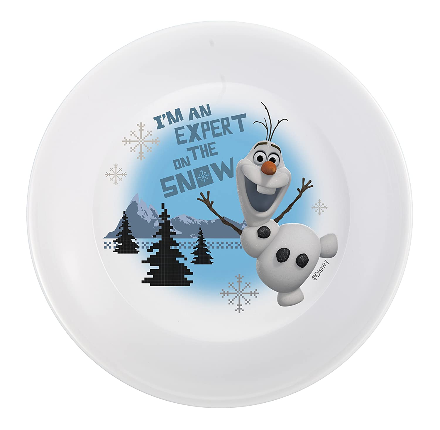 Designs Mealtime Set with Plate Bowl and Tumbler featuring Olaf u0026 Sven from Frozen Break-resistant and BPA-free plastic 3 Piece Set Bowls  sc 1 st  Amazon.com & Amazon.com | Zak! Designs Mealtime Set with Plate Bowl and Tumbler ...