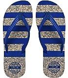 eNaR Women's Blue Color Thong-Style Slippers/Flip Flops