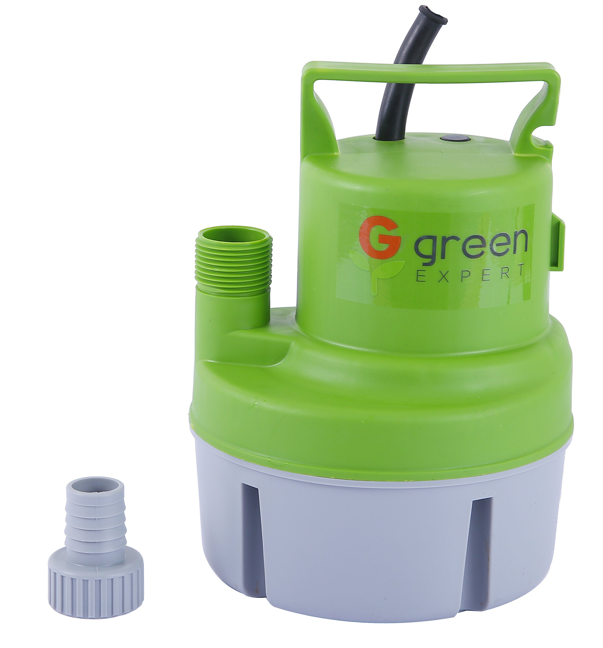 Green Expert 203617 1/6 HP Portable Submersible Utility Pump with 1056 GPH Flow Efficiently for Water Removal Basement Flood Drainage Pump with 3/4'' Adaptor Available for Standard Garden hose