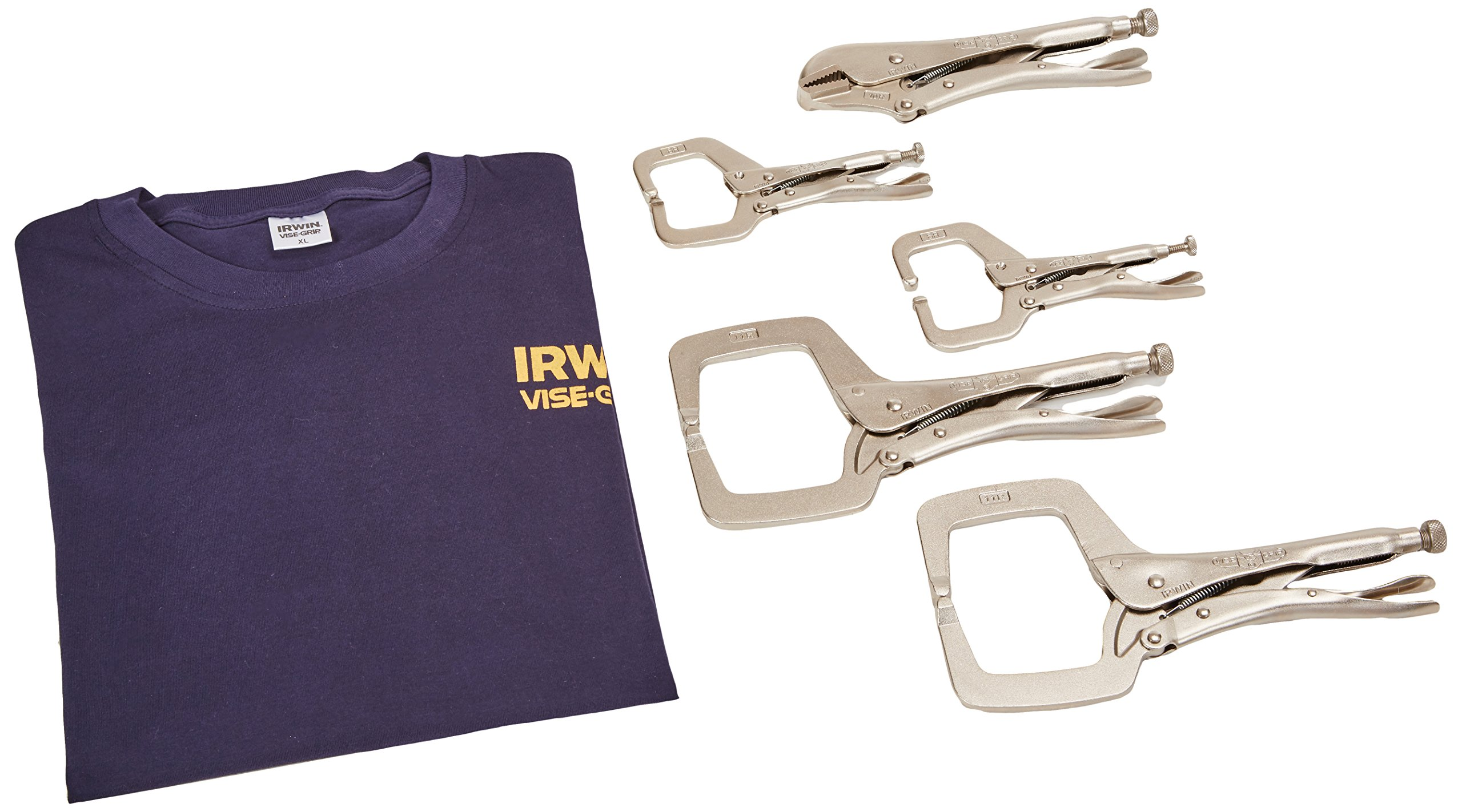 Irwin Industrial Tools 74D Vise-Grip Locking Tool Set with Free T-Shirt, 5-Piece by Irwin Tools