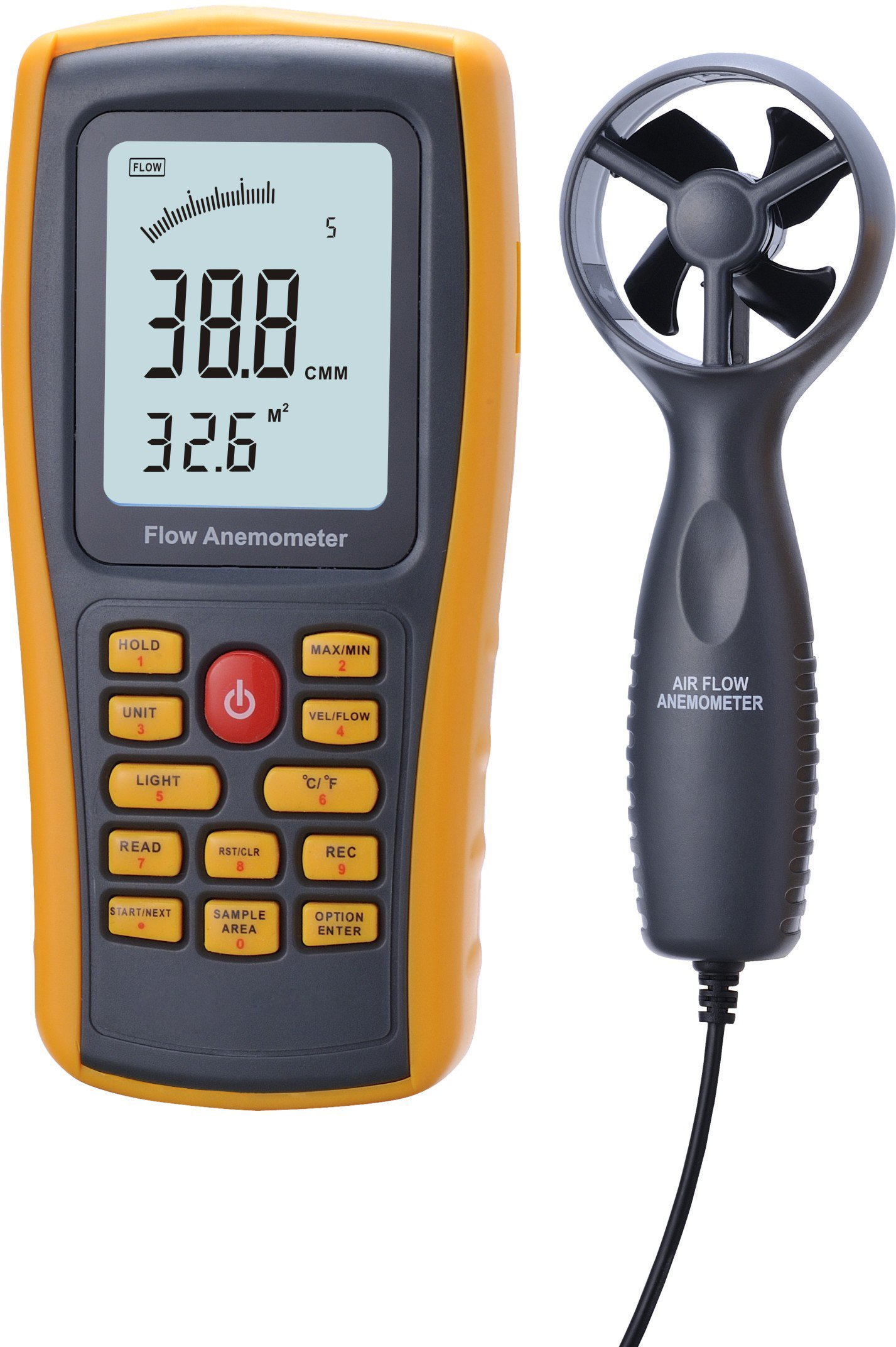Benetech GM8902 Air Flow Anemometer, -10 to 45℃, -10 to 45℃