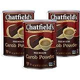 Chatfields All Natural Premium Carob Powder, 16 Ounce (3)